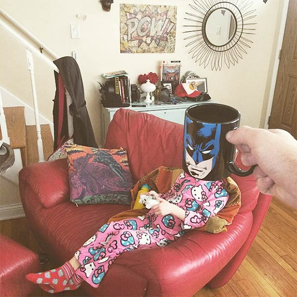 Breakfast Mugshots: Dad Turns His Kids Into Superheroes