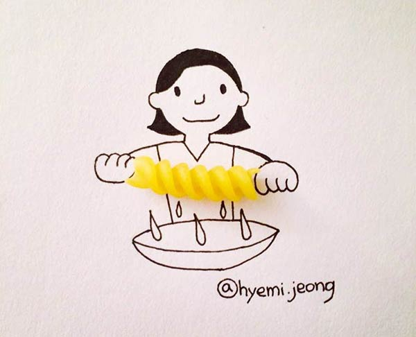 Illustrations From Everyday Objects by Hyemi Jeong