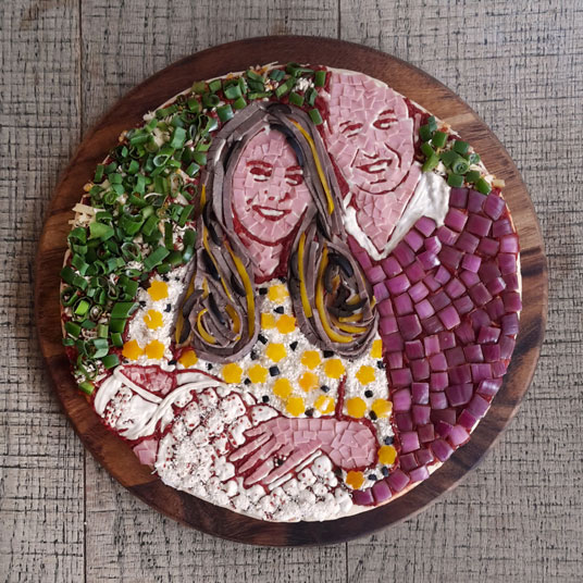 Prince William, Kate Middleton and Princess Charlotte Honoured with Pizza Portrait