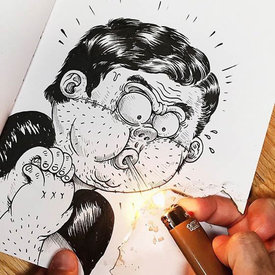 Playful Interactive Drawings by Alex Solis