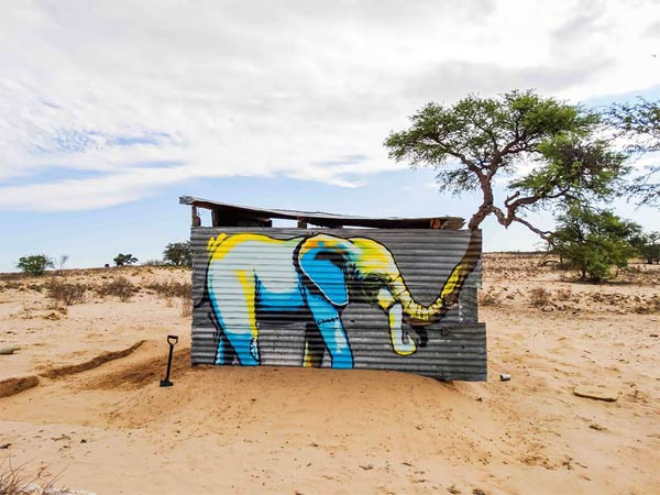 Elephant Graffiti Art