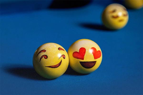 Emoji-Painted Billiard Balls