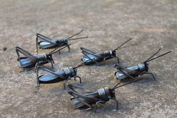 Adorable Little Bugs Created From Salvaged Scrap Metal