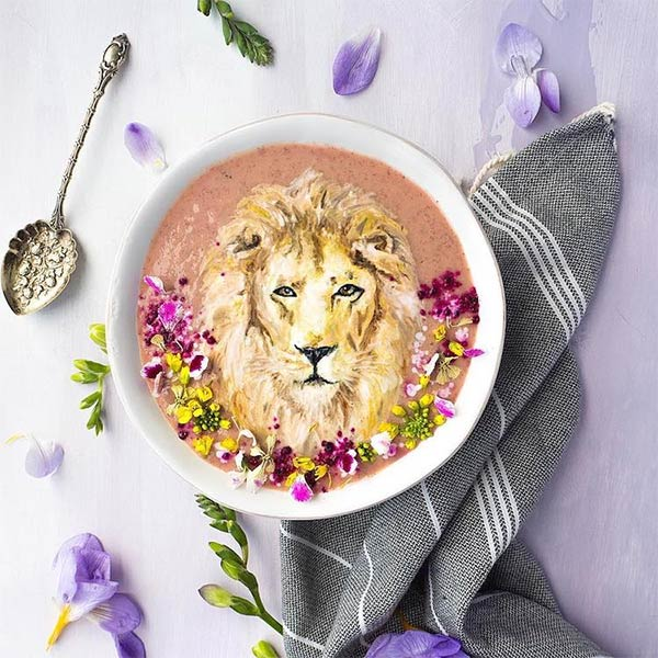 Gorgeous Smoothie Bowl Food Art Illustrations