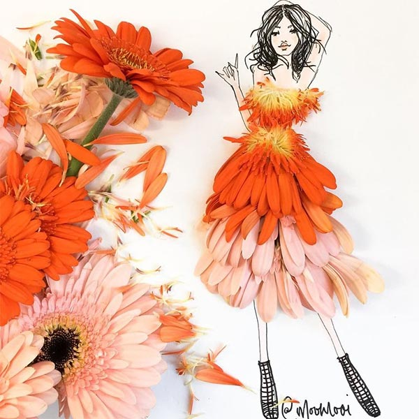 The Art of Fashion Illustrations with Flowers