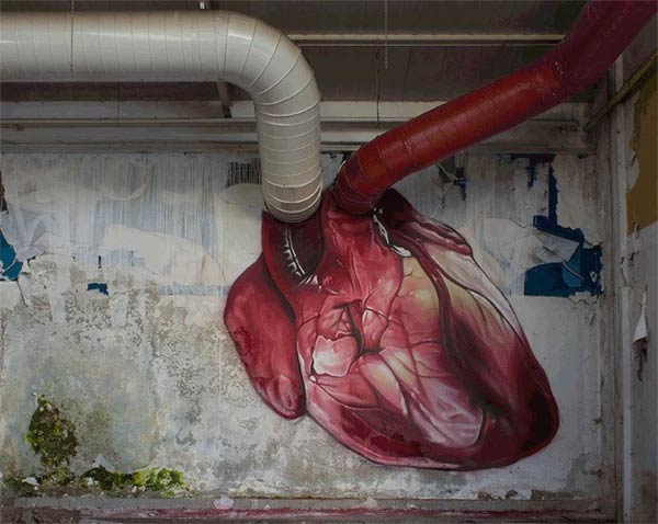 Heart-Shaped Mural