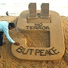 Remembering 9-11: Indian Artist Creates World Trade Center Sand Sculpture