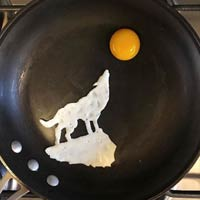 Eggs-traordinary! Breakfast: Artist Turns His Breakfast Eggs Into Works Of Art