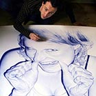 Stunning 10ft Drawings Created with Ballpoint Pen