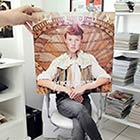 People Creatively Blend Themselves in with Vinyl Records