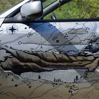 Russian Guy Fixed Car Bump By Creative Painting
