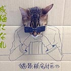 Cat's Cosplay Drawn on Cardboard Cutouts