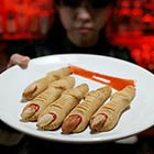Chopped Fingers-Shaped Cookies Served In Vampire-Themed Bar In Beijing
