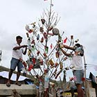Christmas Tree Made of Trash
