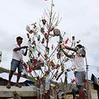Christmas Tree Made of Trash