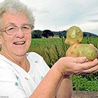 Grandmother Digs Up Duck-Shaped Potato