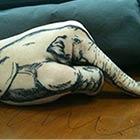Little Elephant Creatively Drawn on Hand