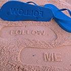 Creative Sand Imprint Flip Flops