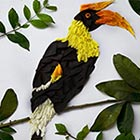 Bird Illustrations Made Out of Flower Petals