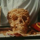 Skull Sculpture Made Entirely From McDonalds French Fries