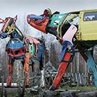 Giant Cows Made from Recycled Car Parts