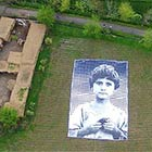 Giant Poster of Girl Installed For Satellites