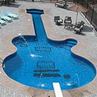 Beautiful Piano and Guitar Shaped Swimming Pools