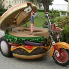 Hamburger-Shaped Harley Davidson