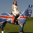 British Flag Painted On Horse Body