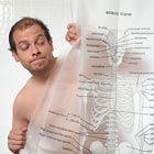 Human Skeleton Shower Curtain