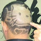Man Shaves His Hair Into Shape of Hello Kitty