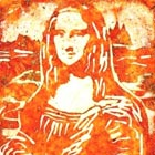 Mona Lisa Portra Recreated on Pizza