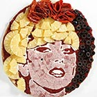 Celebrity Portraits Made Out of Pizza