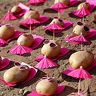 Potatoes Walkout: Urban Food Art Installations by Peter Pink