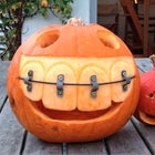 Pumpkin with Giant Teeth & Braces