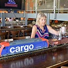 Miniature Trains Deliver Drinks & Desserts in Restaurant