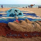 Sand Sculpture on World Water Day by Sudarshan Pattnaik